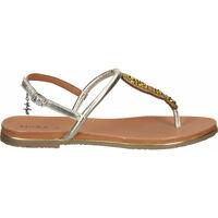 Schuhe Damen Zehensandalen Mexx Zehensteg Gold
