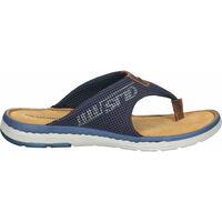 Schuhe Herren Pantoletten Salamander Zehensteg Navy