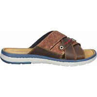 Schuhe Herren Pantoffel Salamander Pantoletten Cognac