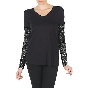 Kleidung Damen Langarmshirts Manoush TSHIRT ML INDIAN BASIC Schwarz