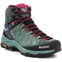 Schuhe Damen Wanderschuhe Salewa Trekkingschuhe  WS Alp Trainer 2 Mid GTX 61383-5085 olivgrün