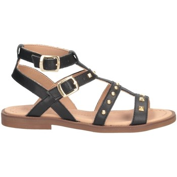 Schuhe Mädchen Sandalen / Sandaletten Dianetti Made In Italy I9749L Sandalen Kind SCHWARZ SCHWARZ