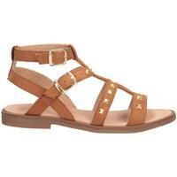 Schuhe Mädchen Sandalen / Sandaletten Dianetti Made In Italy I9749L Sandalen Kind LEDER LEDER