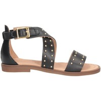 Schuhe Mädchen Sandalen / Sandaletten Dianetti Made In Italy I9733 Sandalen Kind SCHWARZ SCHWARZ