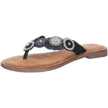 Schuhe Damen Zehensandalen Lazamani Pantoletten 75451 SOUTH schwarz