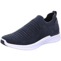 Schuhe Herren Slip on Ara Slipper 11-35096-10 blau