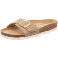 Schuhe Damen Pantoffel Rohde Pantoletten 5589/02 beige