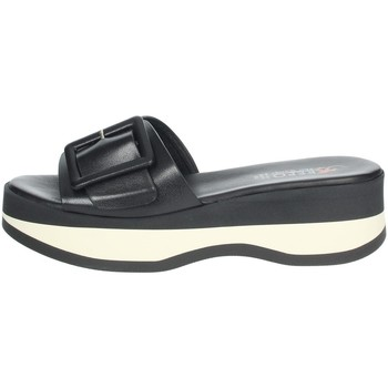 Schuhe Damen Pantoffel Repo 62114-E1 Schwarz/Weiss