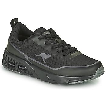 Schuhe Jungen Sneaker Low Kangaroos KX-3500 Schwarz