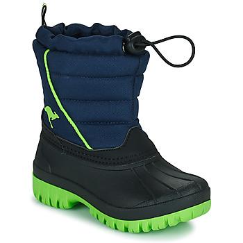 Schuhe Jungen Schneestiefel Kangaroos K-BEN Blau / Grün