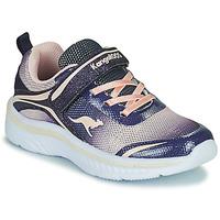 Schuhe Mädchen Sneaker Low Kangaroos K-MAID GLEAM EV Blau / Silbern