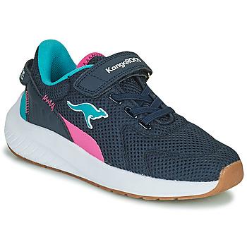 Schuhe Mädchen Sneaker Low Kangaroos K-FORT JAG EV Blau