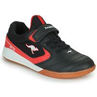 Schuhe Kinder Sneaker Low Kangaroos K5-COURT EV Schwarz / Rot