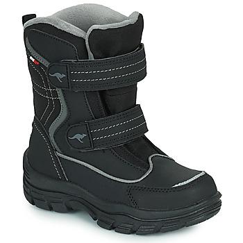 Schuhe Kinder Schneestiefel Kangaroos K-LENO V RTX Schwarz