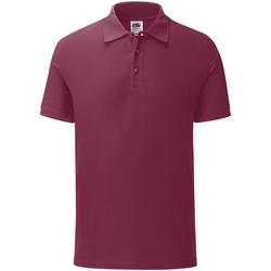 Kleidung Herren Polohemden Fruit Of The Loom 63042 Burgunder