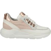 Schuhe Damen Sneaker Low Steven New York Sneaker Rosa/Weiß