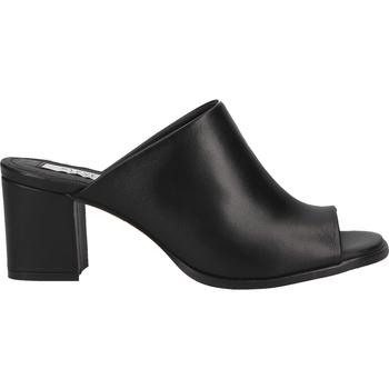 Schuhe Damen Pantoffel Steven New York Pantoletten Schwarz