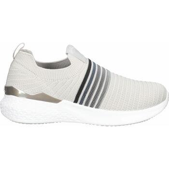 Schuhe Damen Slip on Ara Slipper Hellgrau