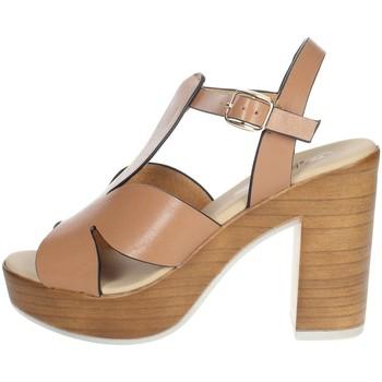 Schuhe Damen Sandalen / Sandaletten Repo 56247-E1 Braun Leder