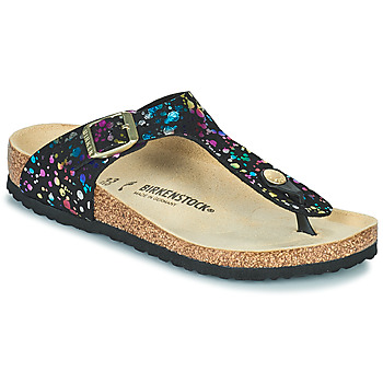 Schuhe Mädchen Zehensandalen Birkenstock GIZEH Schwarz / Multicolor
