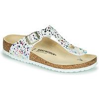 Schuhe Mädchen Zehensandalen Birkenstock GIZEH Weiss / Multicolor