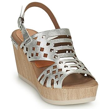 Schuhe Damen Sandalen / Sandaletten Dorking SALMA Silbern