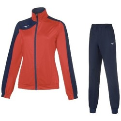 Kleidung Damen Jogginganzüge Mizuno Survêtement  femme Team kobe knit rouge/bleu marine