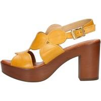 Schuhe Damen Sandalen / Sandaletten Made In Italia 023 Gelb