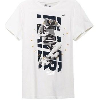 Kleidung Herren T-Shirts 4F TSM011 Weiß