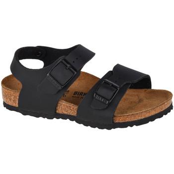 Schuhe Kinder Sportliche Sandalen Birkenstock New York BF Kids Schwarz