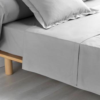Home Bettlaken Douceur d intérieur PERCALINE Grau