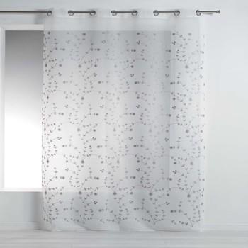 Home Vorhänge Douceur d intérieur PETITE FLEUR Weiss / Grau