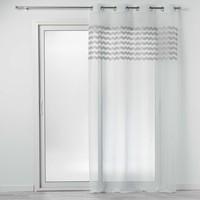 Home Vorhänge Douceur d intérieur SANDINA Weiss / Grau
