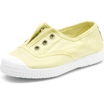 Schuhe Kinder Tennisschuhe Cienta Chaussures en toiles bébé  Tintado jaune pastel