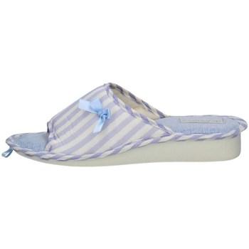 Schuhe Damen Pantoffel De Fonseca TERNI E PA W741 BLAUE FANTASIE