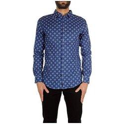 Kleidung Herren Langärmelige Hemden Armani jeans C6C24MC blue