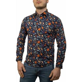 Kleidung Herren Langärmelige Hemden Sun68 S19102 blu china