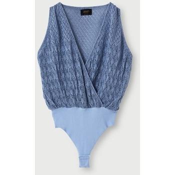 Unterwäsche Damen Bodys Liujo CA1086MA605 azzurro