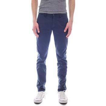 Kleidung Herren Chinohosen Woolrich W0PAN1111 blu