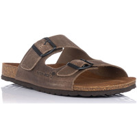 Schuhe Herren Pantoffel Interbios 9560 Beige