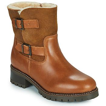 Schuhe Damen Low Boots Minelli LEILA Braun