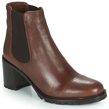 Schuhe Damen Low Boots Minelli PETRINA Braun