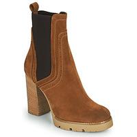 Schuhe Damen Low Boots Minelli VANILLA Braun