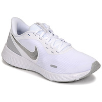 Schuhe Damen Multisportschuhe Nike WMNS NIKE REVOLUTION 5 Weiss / Silbern