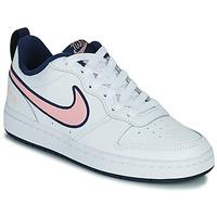 Schuhe Kinder Sneaker Low Nike COURT BOROUGH LOW 2 SE1 (GS) Weiss / Rose