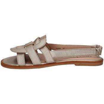 Schuhe Damen Sandalen / Sandaletten Annalu' FLAT01 PLATIN