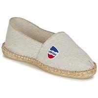 Schuhe Herren Leinen-Pantoletten mit gefloch 1789 Cala UNIE LIN Beige