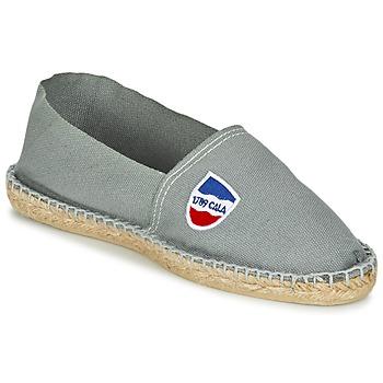 Schuhe Herren Leinen-Pantoletten mit gefloch 1789 Cala CLASSIQUE Grau