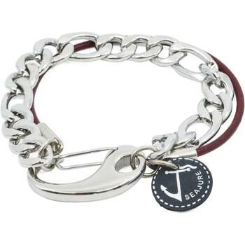 Uhren & Schmuck Herren Armbänder Seajure Armband Vanuatu Bordeaux und Silber