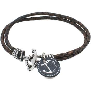 Uhren & Schmuck Herren Armbänder Seajure Armband Miyako Braun